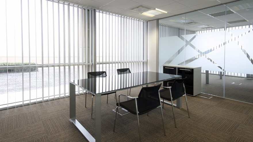 istock vertical blinds office
