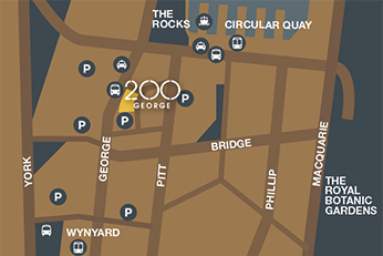 location map 200 george st