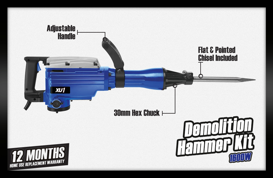 xu1 demolition hammer kit.